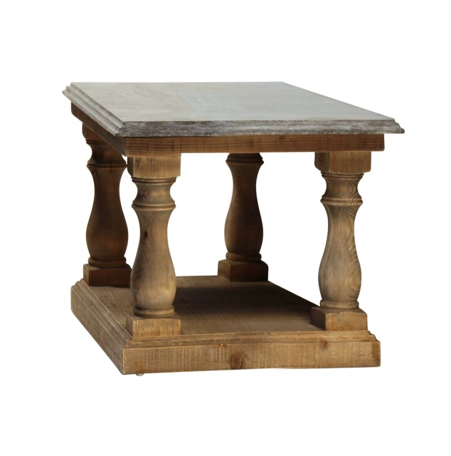 Roman End Table Brown